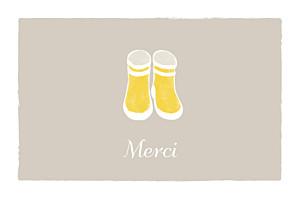 Carte de remerciement beige merci balade photo beige jaune