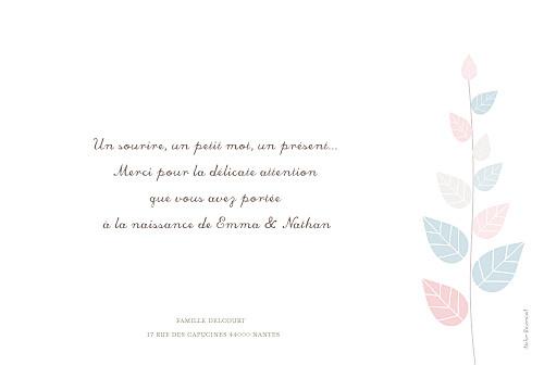 Faire-part de naissance Jumeaux elégance rose et bleu - Page 2