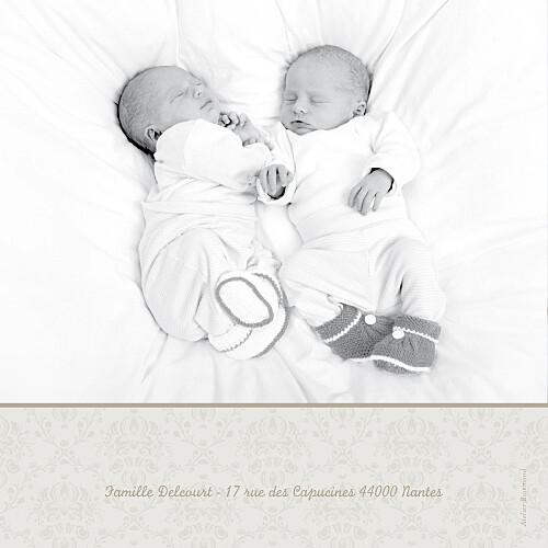 Faire-part de naissance Jumeaux ambiance florale rose - Page 4