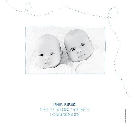 Faire-part de naissance Jumeaux origami bateaux bleu - Page 4