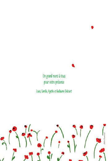 Menu de baptême Coquelicot rouge - Page 4