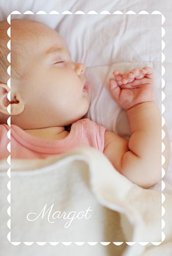 Faire-part de naissance Biscuit rose pâle