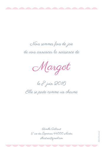 Faire-part de naissance Biscuit rose pâle - Page 2