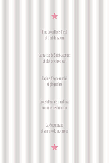 Menu de baptême Pop (4 pages) rose pastel - Page 3