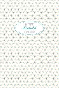 Menu de baptême Pop (4 pages) bleu pastel