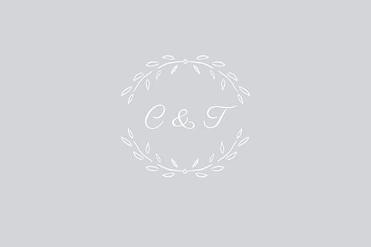 Carton réponse mariage Poème gris