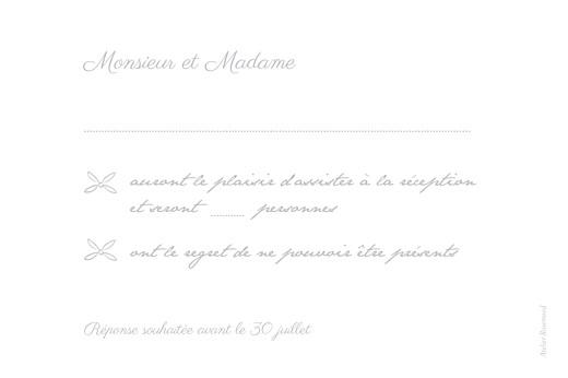 Carton réponse mariage Poème gris - Page 2