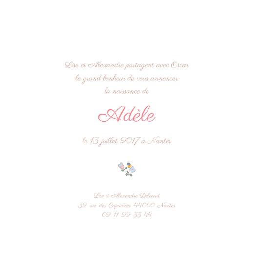 Faire-part de naissance Jardin fleuri (4 pages) bleuet