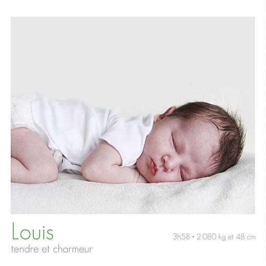 Faire-part de naissance Jumeaux simple 4 photos blanc - Page 2