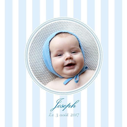 Faire-part de naissance Douceurs photo bleu