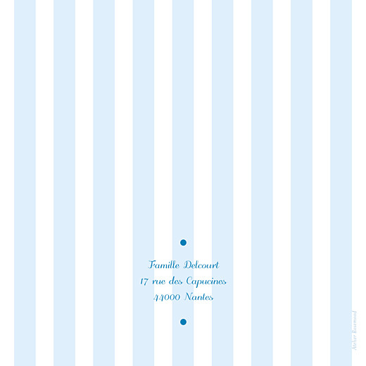 Faire-part de naissance Douceurs (4 pages) bleu