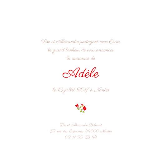 Faire-part de naissance Jardin fleuri (4 pages) rouge - Page 3