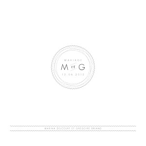 Faire-part de mariage design (4 pages) blanc