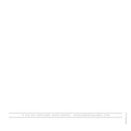 Faire-part de mariage Design (4 pages) blanc