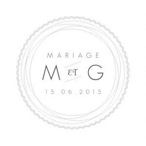 Etiquette perforée mariage Design blanc