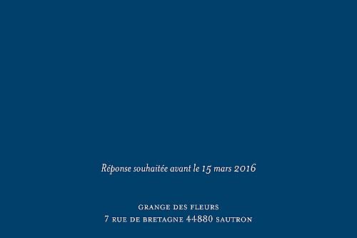 Carton d'invitation mariage Chic bleu roi - Page 2