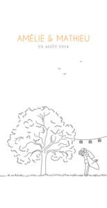 Menu de mariage Promesse champêtre (4 pages) blanc
