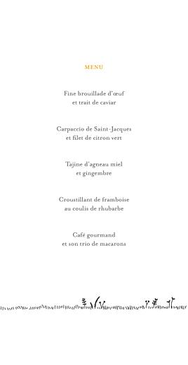 Menu de mariage Promesse champêtre (4 pages) blanc - Page 3