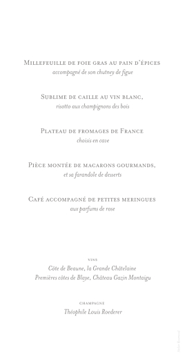 Menu de mariage Chic (panoramique) blanc - Page 2