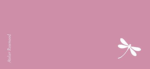 Etiquette de baptême Libellule rose