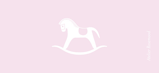 Etiquette de baptême Petit cheval rose clair - Page 2
