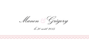 Marque-place mariage Gourmand rose