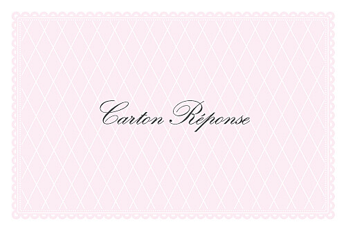 Carton réponse mariage Gourmand raffiné rose