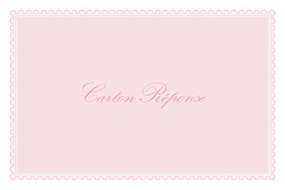 Carton réponse mariage Gourmand rose finition