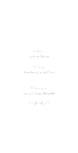 Menu de mariage Envolée vert d\'eau - Page 2