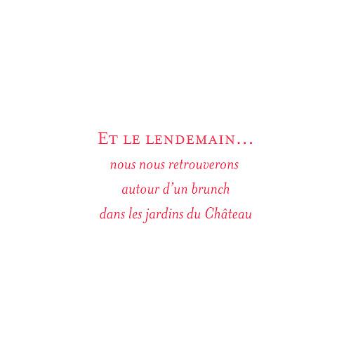 Carton d'invitation mariage Chic (carré) grenadine - Page 2