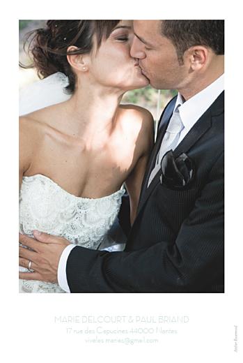 Carte de remerciement mariage Envolée vert d'eau - Page 2