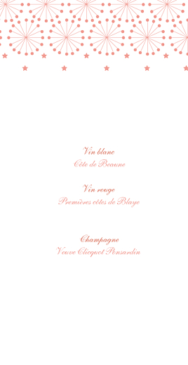 Menu de mariage Hollywood corail - Page 2