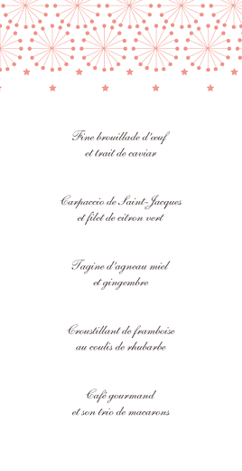 Menu de mariage Hollywood corail - Page 3