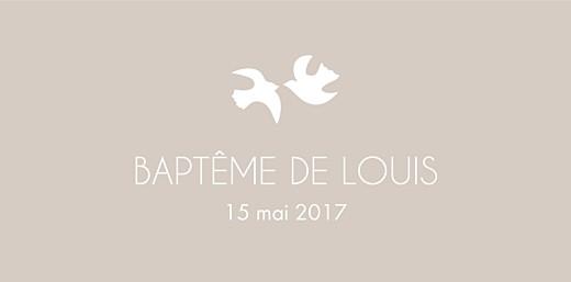 Marque-place Baptême Oiseaux taupe - Page 4