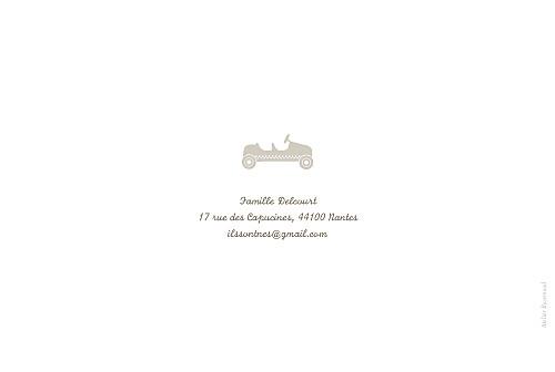 Faire-part de naissance Jumeaux voiture beige - Page 4
