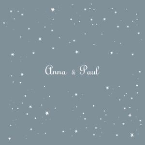 Faire-part de mariage Étoile gris bleu