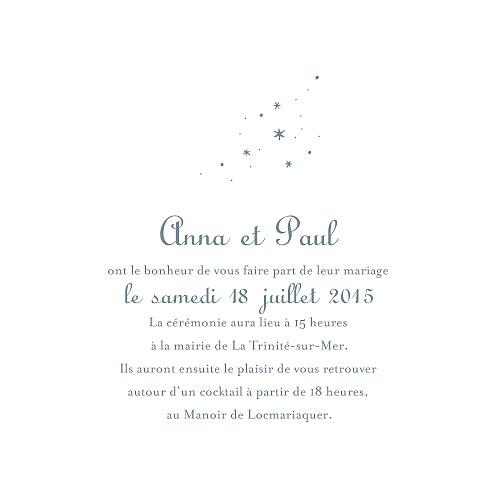 Faire-part de mariage Étoile gris bleu - Page 3