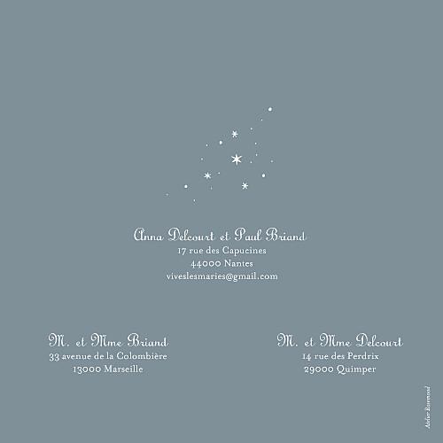 Faire-part de mariage Étoile gris bleu - Page 4