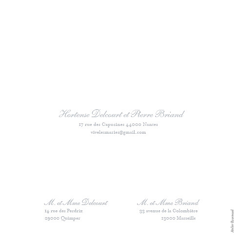 Faire-part de mariage Colombe gris - Page 4