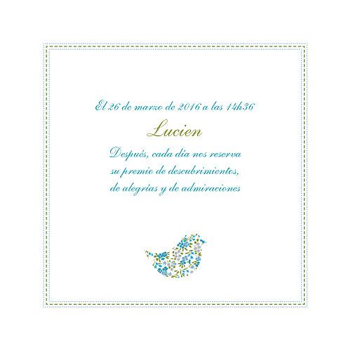 Faire-part de naissance Bilingue liberty bleu - Page 2
