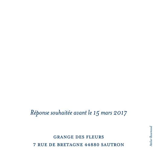 Carton réponse mariage Chic (carré) bleu roi - Page 2