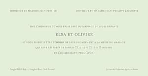 Faire-part de mariage Chic panoramique vert pâle