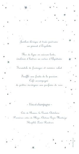 Menu de mariage Étoile gris bleu - Page 2