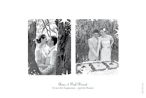 Carte de remerciement mariage Étoile 3 photos gris bleu - Page 2
