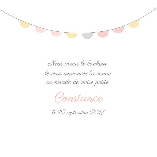 Faire-part de naissance Petit noeud photo rose - Page 3