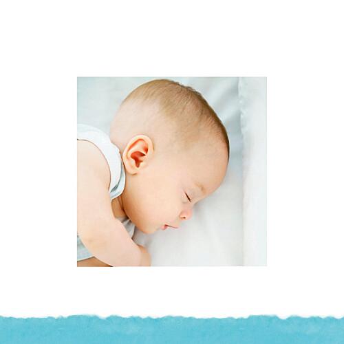 Faire-part de naissance Papier bleu - Page 2