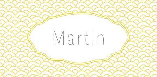 Marque-place Baptême Pistil écusson jaune - Page 4