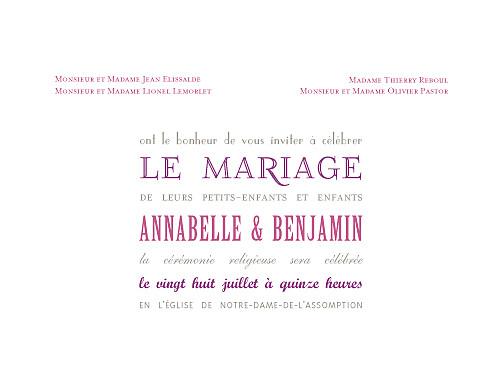 Faire-part de mariage Le plus beau jour (4 pages) blanc - Page 3