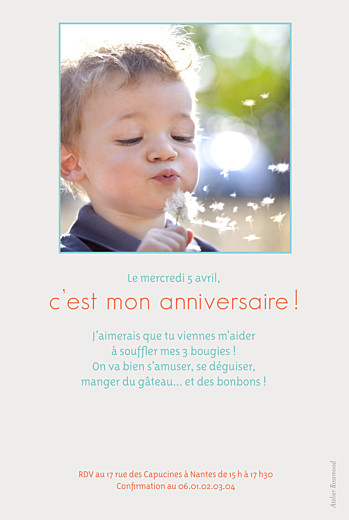 Carte d'anniversaire Triangles photo bleu - Page 2