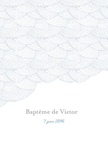 Faire-part de baptême Délicatesse (4 pages) bleu